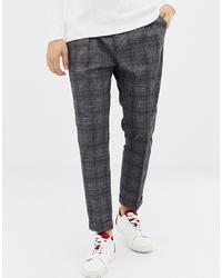 Pantalon chino à carreaux gris foncé United Colors of Benetton
