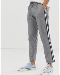 Pantalon chino à carreaux gris Jack & Jones