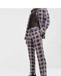Pantalon chino à carreaux gris Sacred Hawk