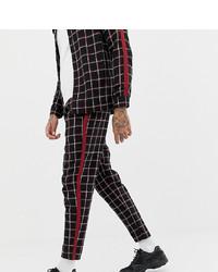Pantalon chino à carreaux noir Mauvais