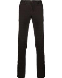 Pantalon chino à carreaux pourpre foncé Incotex