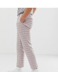 Pantalon chino à carreaux violet clair Noak