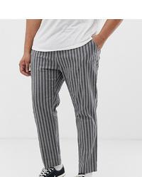 Pantalon chino à rayures verticales gris foncé ASOS DESIGN