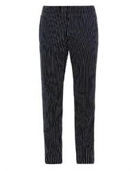 Pantalon chino à rayures verticales noir