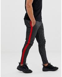 Pantalon chino à rayures verticales noir Jack & Jones