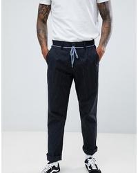 Pantalon chino à rayures verticales noir Volcom