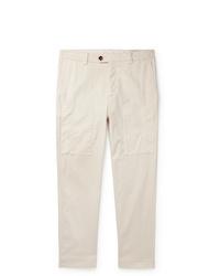 Pantalon chino beige Brunello Cucinelli