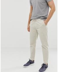 Pantalon chino beige D-struct