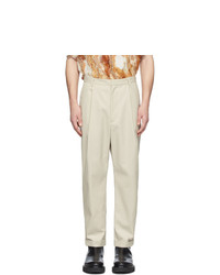 Pantalon chino beige Deveaux New York