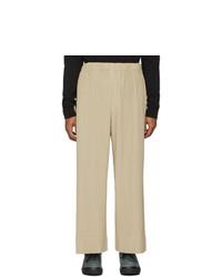 Pantalon chino beige Homme Plissé Issey Miyake