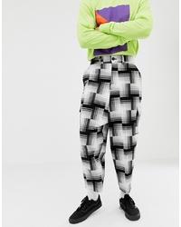 Pantalon chino blanc et noir ASOS DESIGN