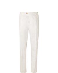 Pantalon chino blanc Brunello Cucinelli