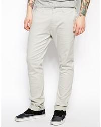 Pantalon chino blanc Diesel