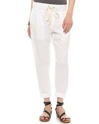 Pantalon chino blanc Enza Costa