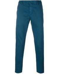 Pantalon chino bleu canard