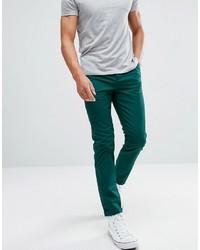 Pantalon chino bleu canard Asos