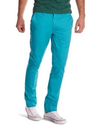 Pantalon chino bleu canard Cheap Monday