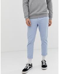 Pantalon chino bleu clair ASOS DESIGN