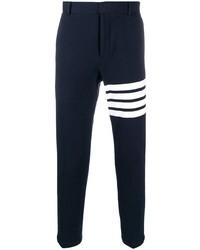Pantalon chino bleu marine et blanc Thom Browne