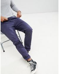 Pantalon chino bleu marine Brave Soul