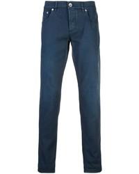 Pantalon chino bleu marine Brunello Cucinelli
