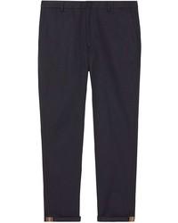 Pantalon chino bleu marine Burberry