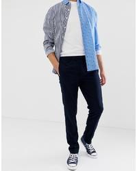 Pantalon chino bleu marine Burton Menswear