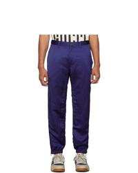 Pantalon chino bleu marine Gucci