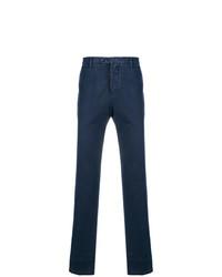 Pantalon chino bleu marine Kiton