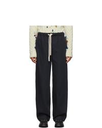 Pantalon chino bleu marine Loewe