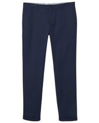 Pantalon chino bleu marine Mango