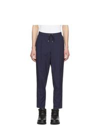 Pantalon chino bleu marine Moncler