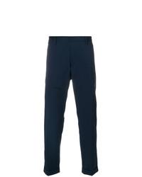 Pantalon chino bleu marine Paolo Pecora