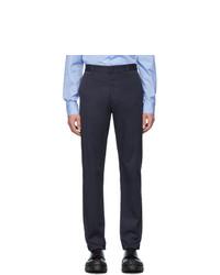Pantalon chino bleu marine Prada