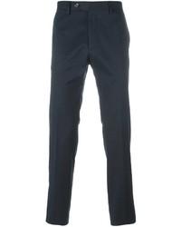Pantalon chino bleu marine Salvatore Ferragamo