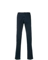 Pantalon chino bleu marine Stone Island