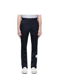 Pantalon chino bleu marine Thom Browne
