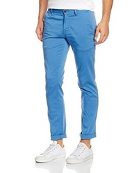 Pantalon chino bleu Boss Orange