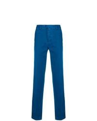Pantalon chino bleu Kiton