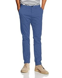Pantalon chino bleu Scotch & Soda