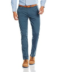 Pantalon chino bleu Selected