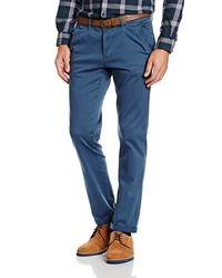 Pantalon chino bleu Tom Tailor Denim