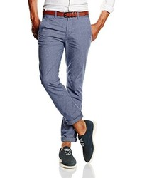 Pantalon chino bleu Tom Tailor