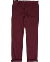 Pantalon chino bordeaux