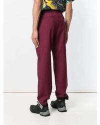 Pantalon chino bordeaux Prada