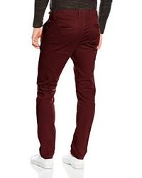 Pantalon chino bordeaux Jack & Jones