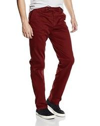 Pantalon chino bordeaux Pedro del Hierro