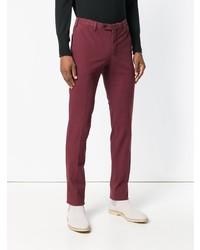 Pantalon chino bordeaux Pt01