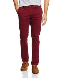 Pantalon chino bordeaux Teddy Smith