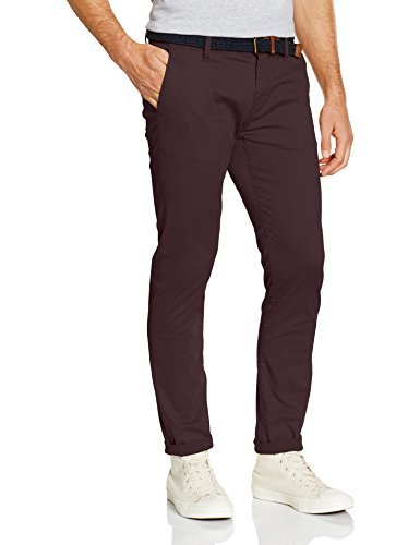 Pantalon chino bordeaux Tom Tailor